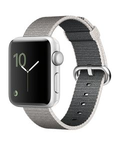 Apple Watch Series 2 38mm Silver Aluminum Case with Pearl Woven Nylon Band