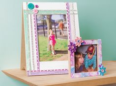 A precious memory for mum in a washi tape photo frame.