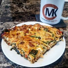 #FrittataTime! Chicken, kale, tomato, bacon and cheese frittata. #keto #lowcarbdiet #atkinsdiet #lowcarbhighfat #LCHF #lowcarb #Breakfast #CavemanKeto #cmk