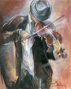 Street Musician by Lena Sotskova.