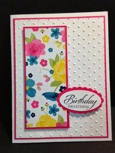 Wetlands Feminine Birthday Card Stampin' Up! Rubber Stamping Handmade Cards by carlene