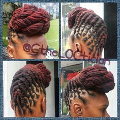 904-365-3512 #GotLocs #locs #locUpdo #LocStyles Locs, locs with color, ombre, wedding hair, loc styles, updos, loc updos, nice locs, beautiful locs, beautiful hair, braids, natural hair, loctician in Jacksonville Florida, best styles for everyday wear, hair art, loc art, not dread locs, Ciara the LOCTICIAN, CtheLOCtician.com, @CtheLOCtician