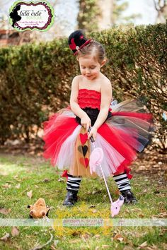 Alice in Wonderland Queen of Hearts Halloween Costume Dress Up or Birthday Costume Tutu. $75.00, via Etsy.