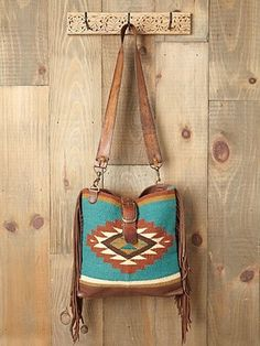 Southwestern inspired cross body bag