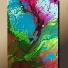 Abstract Art Print - 11x14 Contemporary Modern Fine Art by Destiny Womack  - Raw Emotion - dwo