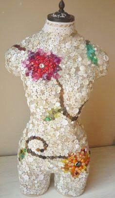 Vintage button Mannequin