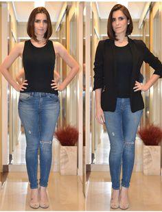 diminuir_quadril_jeans Style Désinvolte Chic, Style Casual, Casual Chic, Casual Looks, Dope Style, Casual Styles, Smart Casual, Casual Work Attire, Casual Wear