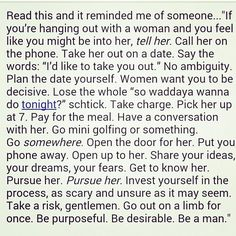 Men a little advice on how to treat your soon to be woman