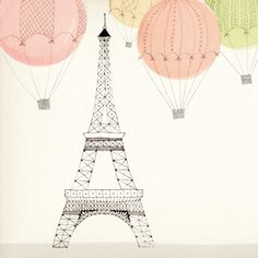 Eiffel Tower for a collection of stationery by Galison Paris Cat, Paris Illustration, Travel Wall Art, Tour Eiffel, Cute Wallpapers, Illustrations Posters, Art Sketches, Vector Art, Art Photography
