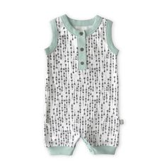 Bodysuits The Spunky Stork Seas The Day Beach Please Organic Cotton Baby Bodysuit Set