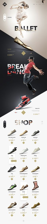 Ui design concept for Fashion Store website.: