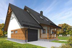 C24/001 - Budowa domów szkieletowych kanadyjskich Rzeszów Daszer #daszer #dompiętrowy #projektdomu #dom #domszkieletowy #houseproject #houseofwood Garage Doors, Outdoor Decor, Home Decor, Homemade Home Decor, Decoration Home, Interior Decorating