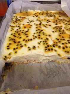 Passion Fruit Slice Ingredients  1 250g packet Arnott's Scotch Finger Biscuits, 1 x 395g can sweetened condensed milk, 1/2 cup lemon juice, 1  300ml carton thickened cream, 2 tsps of gelatine dissolved in hot water, 1 small can passionfruit pulp. Method Line a baking tray with paper place down scotch finger biscuits. Whip cream add the rest of the ingredients and fold in using a wooden spoon. Spread the mixture over the biscuits. Pour the passionfruit pulp on top. Place in the fridge until…