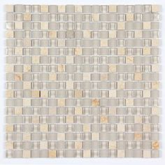 All Marble Mosaic Glass and Stone Mix 5/8 x 5/8 Glass Mosaic Tile Mag 4440 SQ from http://AllMarbleTiles.com