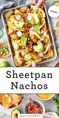The BEST nachos recipe! Corn tortilla chips are loaded with creamy nacho cheese, taco meat, pico de gallo, jalapeños, and more. A great game day appetizer! Best Nacho Recipe, Best Vegan Recipes, Meat Recipes, Vegetarian Recipes, Healthy Recipes, Weeknight Recipes, Party Recipes, Healthy Snacks, Dinner Recipes