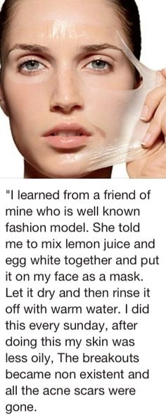 Egg white mask - Was reading about how this is great for blackheads...going to try it out myself.