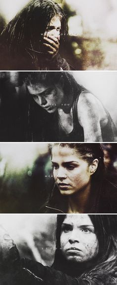 The forest tried to break her but she wouldn't let it The 100 Cast, The 100 Show, Bellarke, Best Tv Shows, Best Shows Ever, Lincoln And Octavia, Marie Avgeropoulos, The 100 Clexa, Cw Series