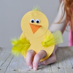 How to Make Adorable Chick Finger Puppets