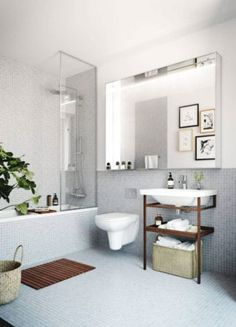 images like Oscar Properties : Chokladfabriken bathroom - mirror - toilet . visit us and get your ideas Interior Exterior, Home Interior, Bathroom Interior, Interior Design, Bad Inspiration, Bathroom Inspiration, Furniture Inspiration, Floor Stickers, Floor Trim