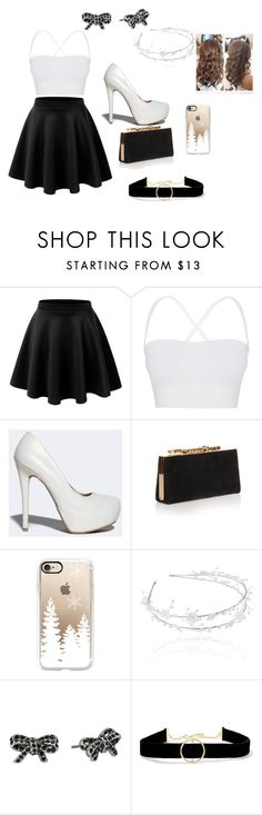 """""""white and black"""" by natalia-lopez289 ❤ liked on Polyvore featuring LE3NO, Theory, Qupid, Jimmy Choo, Casetify, Linni Lavrova, Marc Jacobs and Anissa Kermiche"""