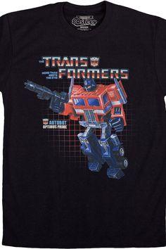 Box Art Optimus Prime Shirt