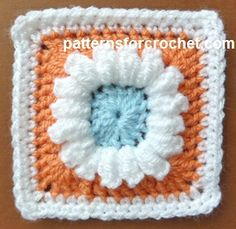 FREE crochet pattern for a 3 Colored Granny Square by Patterns For Crochet.