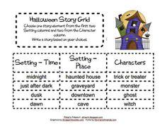 Halloween Story Grid