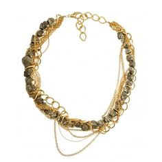 Love this gold and gray necklace!