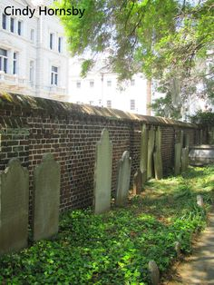 Tombstones in the graveyard of St. Michael's Episcopal Church, Charleston, SC