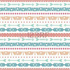 art amÉrindien: Tiré par la main de motif géométrique ethnique homogène. Papier cadeau. Papier Scrapbook. Le style Doodles. Carrelage. Tribal illustration vectorielle native. Fond aztèque. Encre élégant de texture graphique.