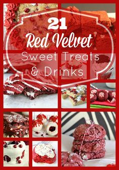 Red Velvet Sweet Treats And Drinks These great Red Velvet Desserts are perfect for Valentine's Day Desserts and Celebrations!Sweet Dreams Sweet Dreams may refer to: Red Velvet Desserts, Red Velvet Recipes, Just Desserts, Delicious Desserts, Dessert Recipes, Yummy Treats, Sweet Treats, Valentines Day Desserts, My Tea
