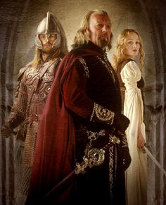 The Royals of Rohan - Theoden - Eomer - Eowyn - Return of the King - Karl Urban - Miranda Otto - Benard Hill - Lord of the Rings