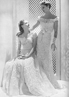 Evening gowns by Chanel ♥ 1938.