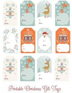 photograph about Free Printable Gift Tags Christmas identified as 240 Least complicated Xmas Labels and Xmas Label Templates
