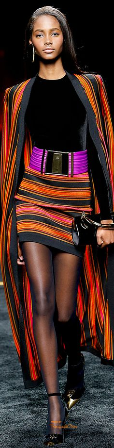 #PFW Balmain Fall 2015 RTW ♔THD♔: A little too short for my taste, but I love the design and print.