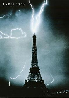 A fantastic poster of a lightning strike hitting the iconic Paris landmark the Eiffel Tower in Published in Fully licensed. Need Poster Mounts. Paris Eiffel Tower, Tour Eiffel, Paris Landmarks, Fine Art Posters, Famous Words, Lightning Strikes, Simple, Images, Photos