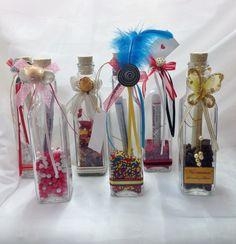 invitacion y recordatorios en botellas