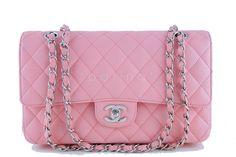Chanel Pink Caviar Medium Classic 2.55 Shoulder Flap Bag