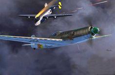 Focke Wulf Ta 152H-1 vs B-24 Liberator, by Jerry Boucher