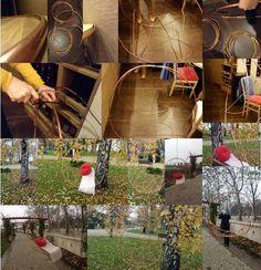 """COPPER UPCYCLING CONTEST / PARTICIPANT #10 : BALANÇOIRE AÉRIENNE  // Georgina & Zsuzsanna ont réutilisé du fil de cuivre pour créer cette balançoire aux formes gracieuses ! """"Likez"""" pour participer au choix du prix du public ! / Georgina & Zsuzsanna (duDESign) used copper wire to create a charming swing : simple and cute ! - """"like"""" in order to participate to the public's choice price! #upcopper #copper #cuivre"""