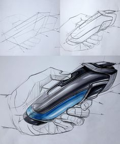 Product Design Sketch, industrial Design sketch. Object ; Sony head camera