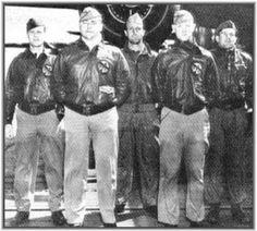 """Take Off Order  9  Tail # 40- 2303 -- """"Whriling Dervish""""--- Target: Tokyo --- Pilot Lt. H.F. Watson, Co-Pilot Lt. J.M. Parker Jr., Navigator Lt. T.C. Griffin, Bombardier Sgt. W.M. Bissel, Engineer Gunner TSgt. E.V. Scott --- Bail Out"""