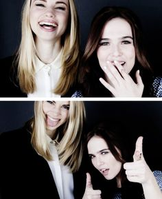Lucy Fry & Zoey Deutch, so cute! #VampireAcademy #VA