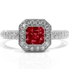 2.34Ct Emerald Cut Ruby & Diamond Engagement Ring 18k Gold Price: $1,890.00 You Save: $1,512.00 (44%)      We manufacture all our jewelry in our own factory to assure quality.     Our direct to you pricing means you are getting a great value.     All the best designs with new items constantly being added.