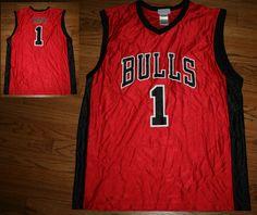 Chicago Bulls Derrick Rose Basketball Jersey Men's X-Large New #nba #ChicagoBulls