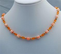 Orange Single Strand Necklace - Media - Beading Daily