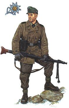 Oberschütze ( SS rank of senior arrows ) , 3rd Mountain Division , Norway , spring 1940