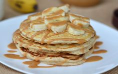 Banana pancakes with peanut butter recipe: Try this Banana pancakes with peanut butter recipe, or contribute your own. Healthy Food Choices, Healthy Breakfast Recipes, Healthy Foods To Eat, Healthy Snacks, Snack Recipes, Healthy Recipes, Breakfast Ideas, Free Breakfast, Eating Healthy