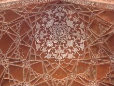 Ceiling of the mosque at the Taj Mahal, Agra