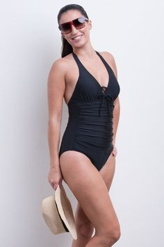 8c10a123362fc Halter One Piece Swimsuit - Essentials Collection
